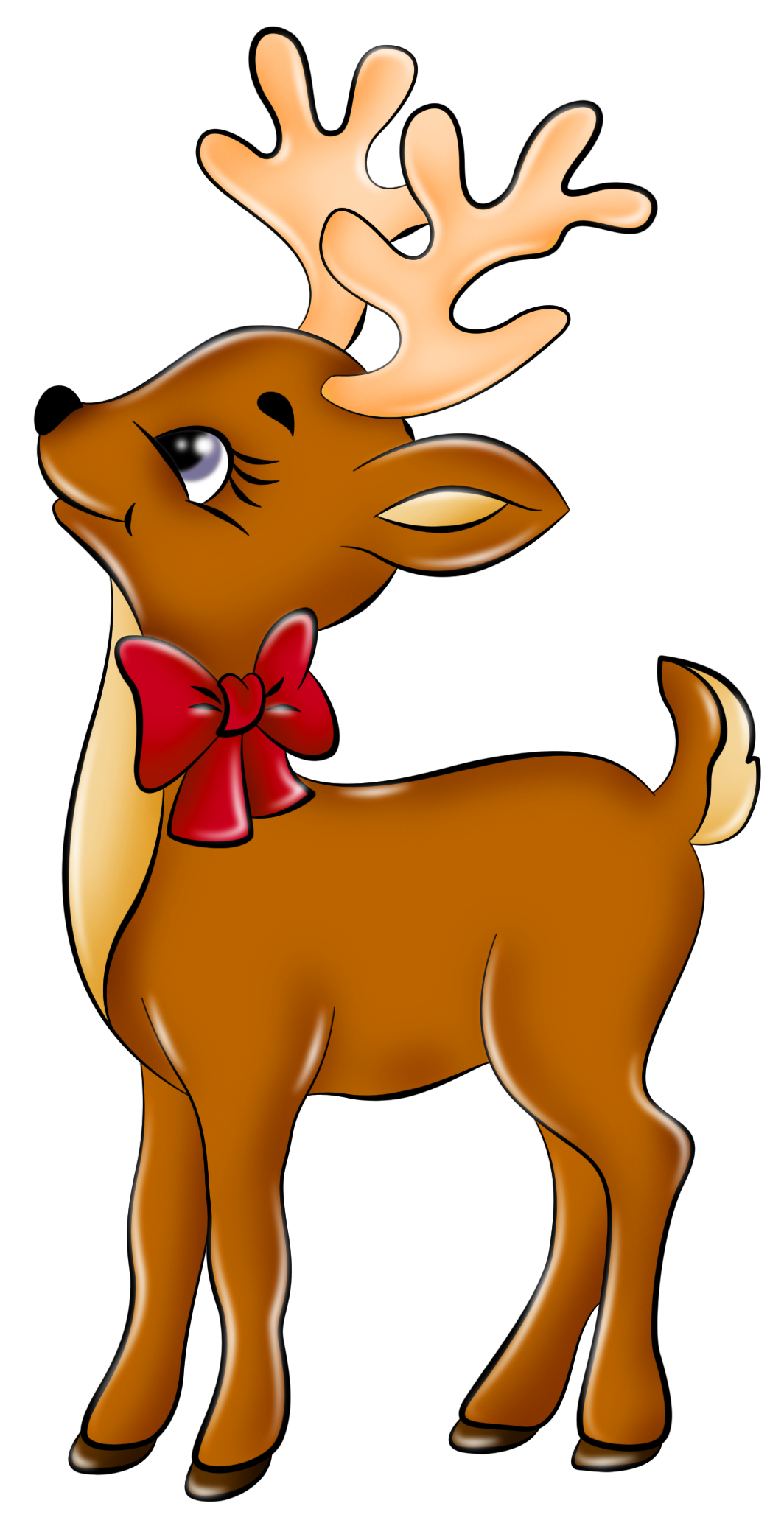 Deer christmas. Cute reindeer clip art