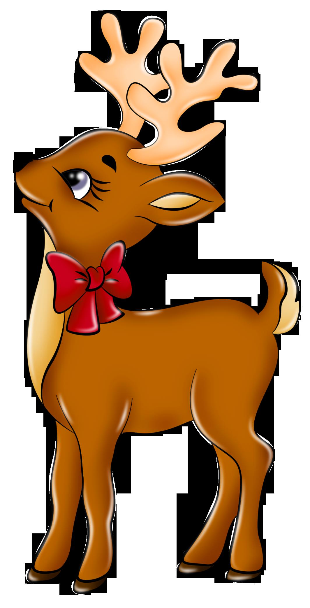 cute reindeer clip art clipart free clipart [ 1064 x 2086 Pixel ]