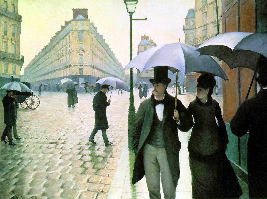 Gustave Caillebotte Place De L Europe Par Temps De Pluie Jour