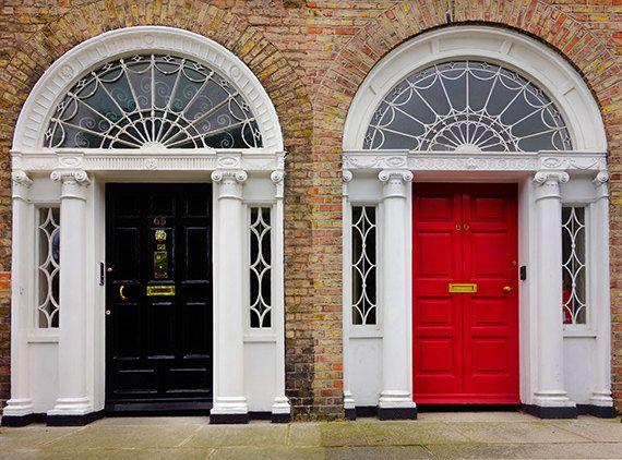 Ireland Photography Dublin Fine Art Photography Red Door Black Door Irish Doors Twin Doors Landscape Irish Wall ... & Photography Dublin Fine Art Photography Red Door Black Door ...