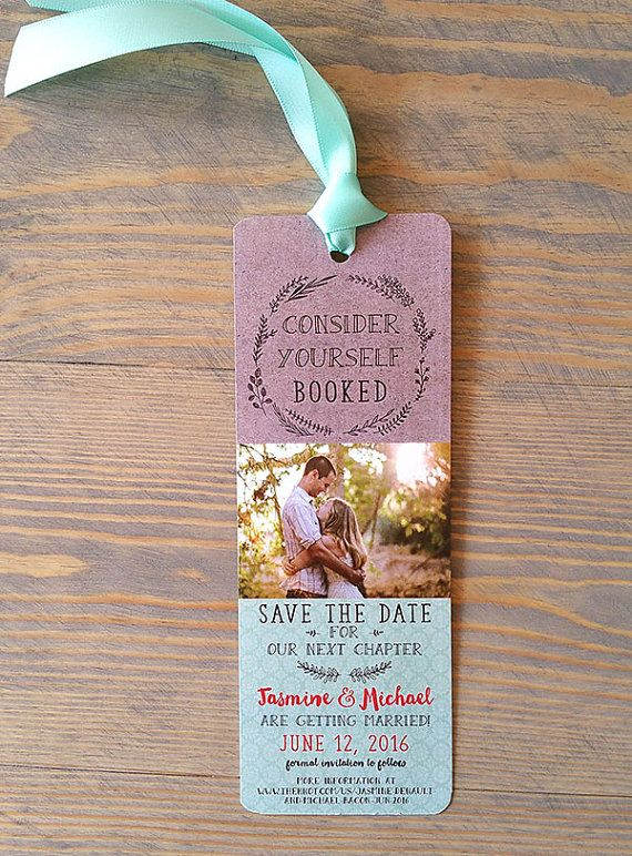 Party 6 Bookmarks Set of 12 Save the Date wedding