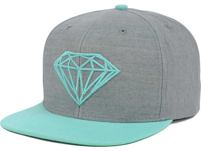 5cbeb4154929f Diamond Snapback Hat in Grey   Tiffany Blue. this is so me! I can t wait  until it comes in  )