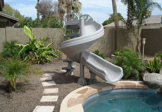 Pool Slide Home Pool Designs Custom Pools Dream Pools