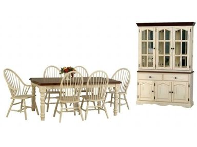 Country Marketplace   Solid Birch Buttermilk Farm Table Windsor Chairs And  Classic Hutch Is Coming Back!