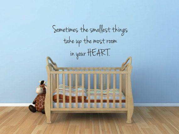 Vinyl Wall Decal Sometimes the smallest by BlueCoutureDesign, $12.00