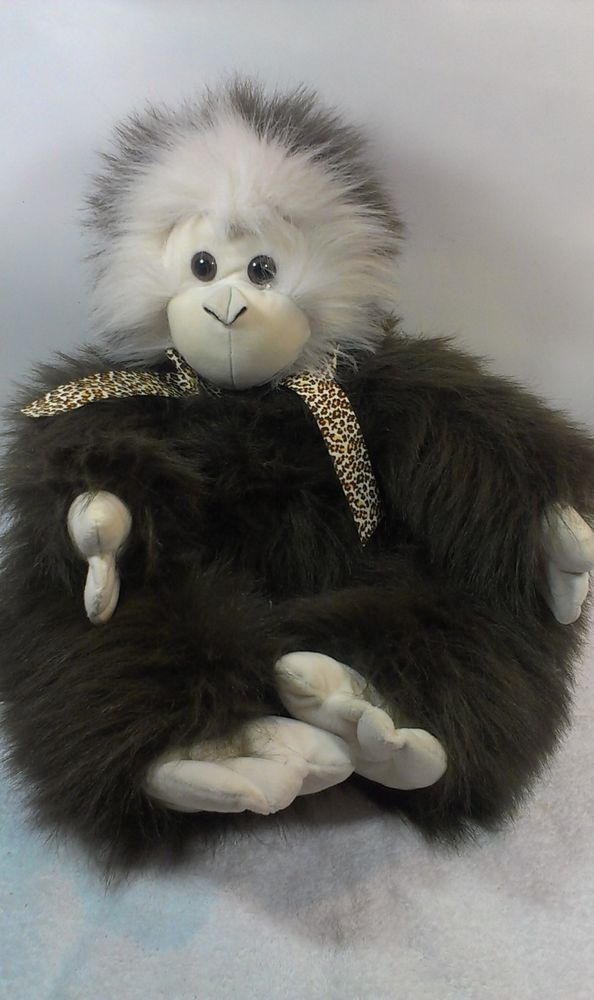 Animal Adventure Jumbo 24 Brown Furry Monkey Stuffed Gorilla Ape