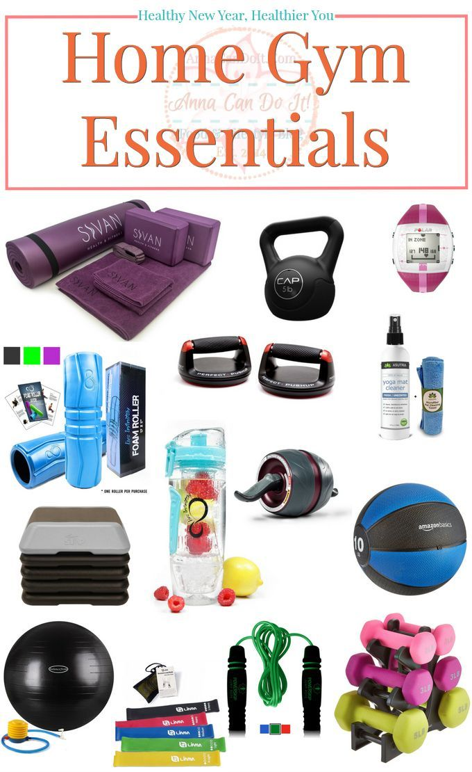 Healthy New Year, Healthier You - Home Gym Essentials - Anna Can Do It! #exercise0thesetup