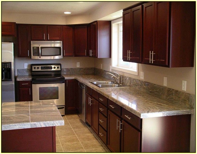 choosing granite countertop colors for cherry wood cabinets - Google ...