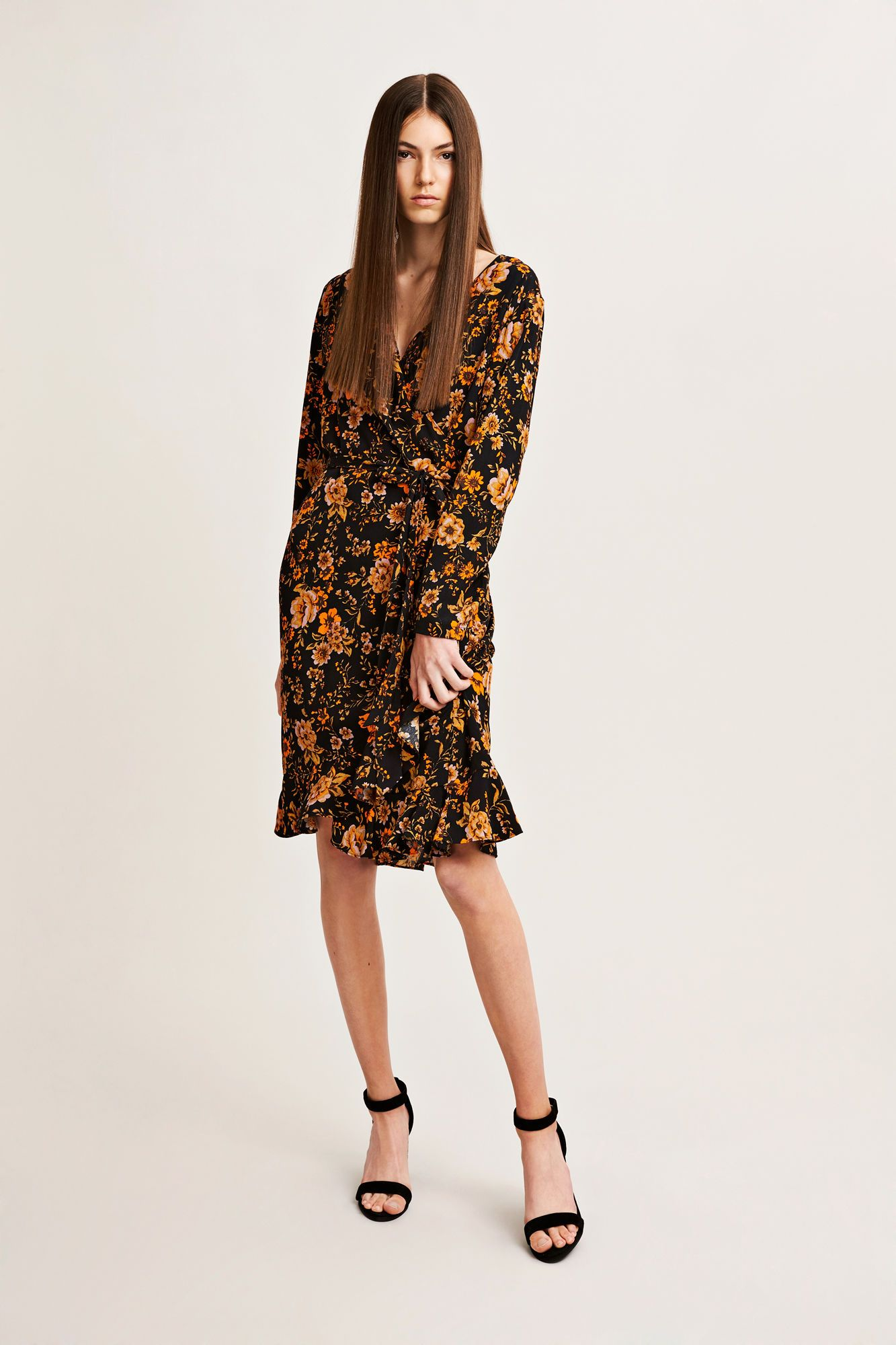 87cbbd12604 Samsøe Samsøe Limon ls dress aop 6515, BLACK BLOOM | Clothing in ...