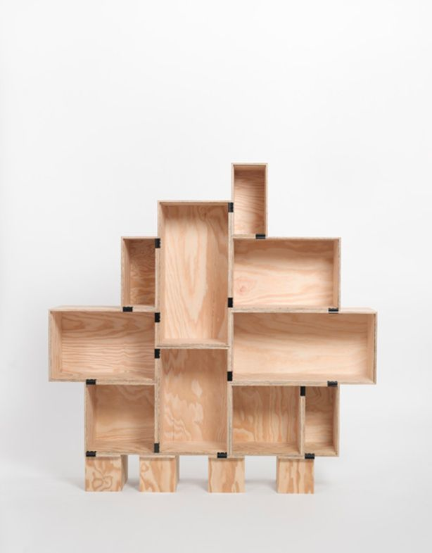 DIY Kast Met Wijnkisten En Clips Bookshelf Plans Ideas Handmade Bookshelves Diy