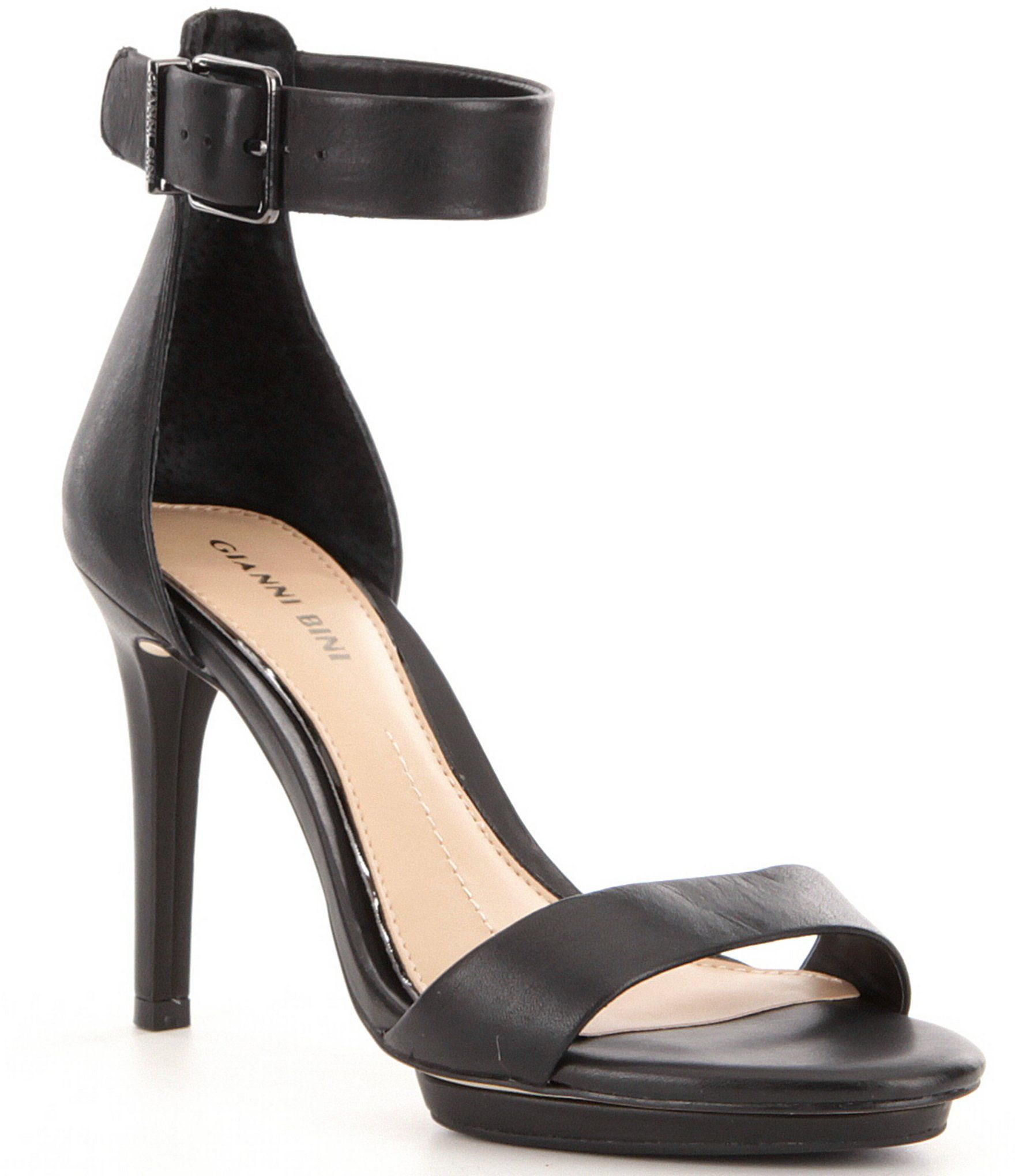 Lizette Leather Ankle Strap Dress Sandals cuh7CjkX7