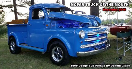 mopar truck of the month december 2016 1950 dodge b2b pickup rh pinterest com