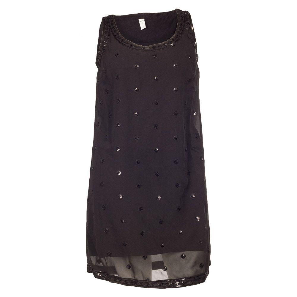Seje Sort kjole med palietmønster Que Modetøj til Damer i behageligt materiale