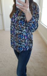 NYDJ henley blouse from Nordy's