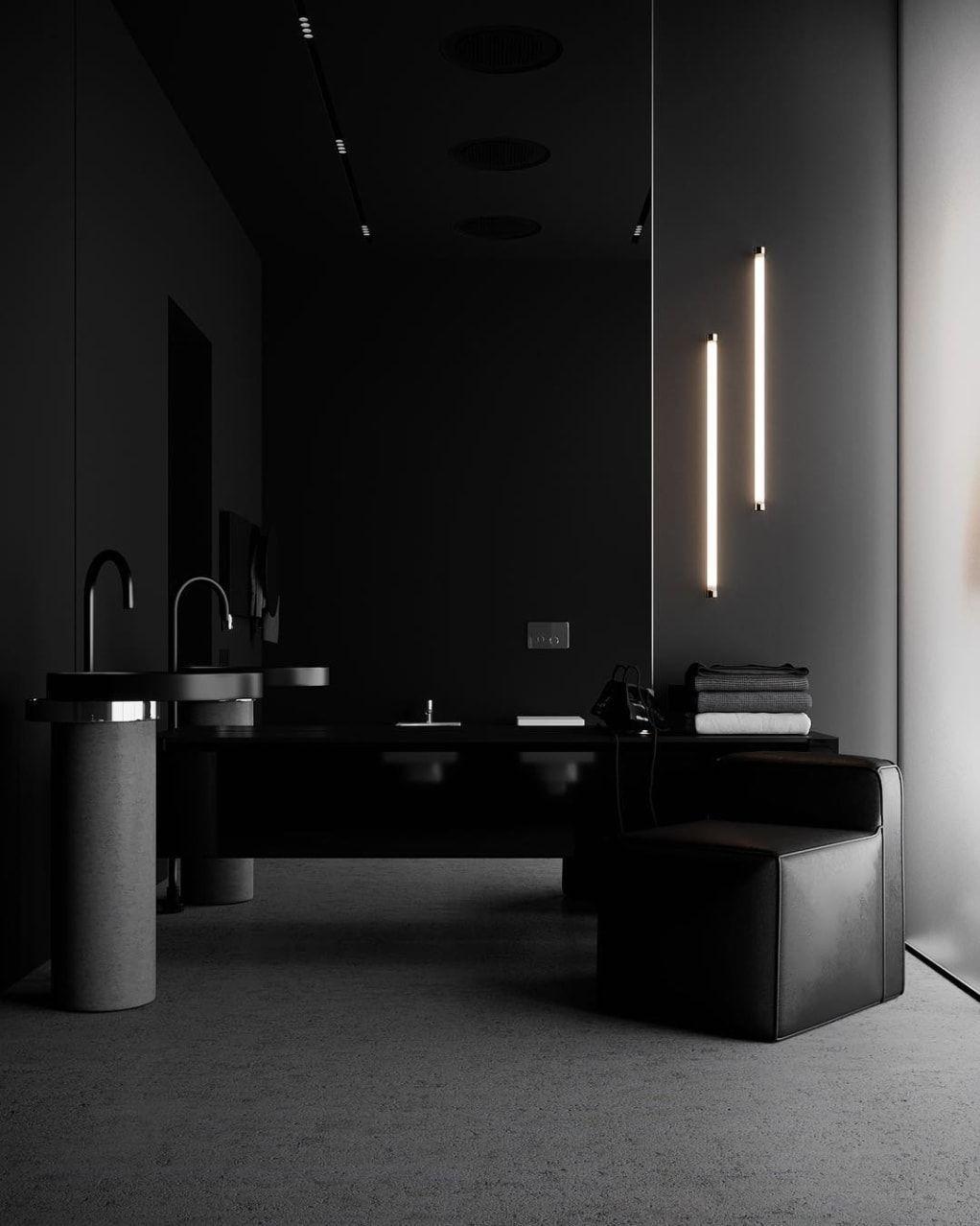 Minimal Interior Design Inspiration 192 Minimalism Interior Dark Interior Design Minimal Interior Design Black luxury minimalist room