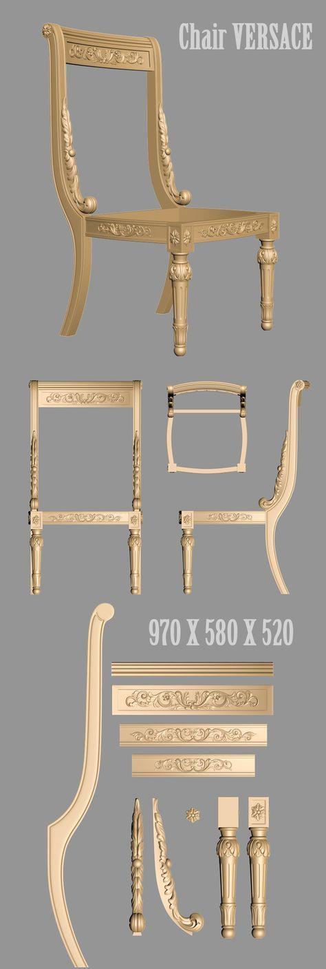 Luxury Showcase For Living Room Royal Art Deco: A1050. Chiar 3d Models Versace