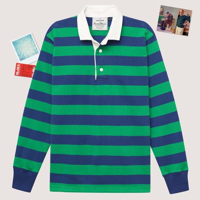 4e1558412 Rowing Blazers Hockney Stripe Rugby  rowingblazers  blazer  rugby  menswear   stripes