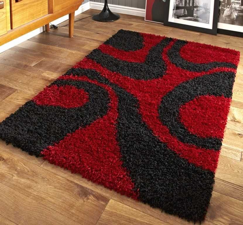 Vista 4263 Red Black Rugs Modern