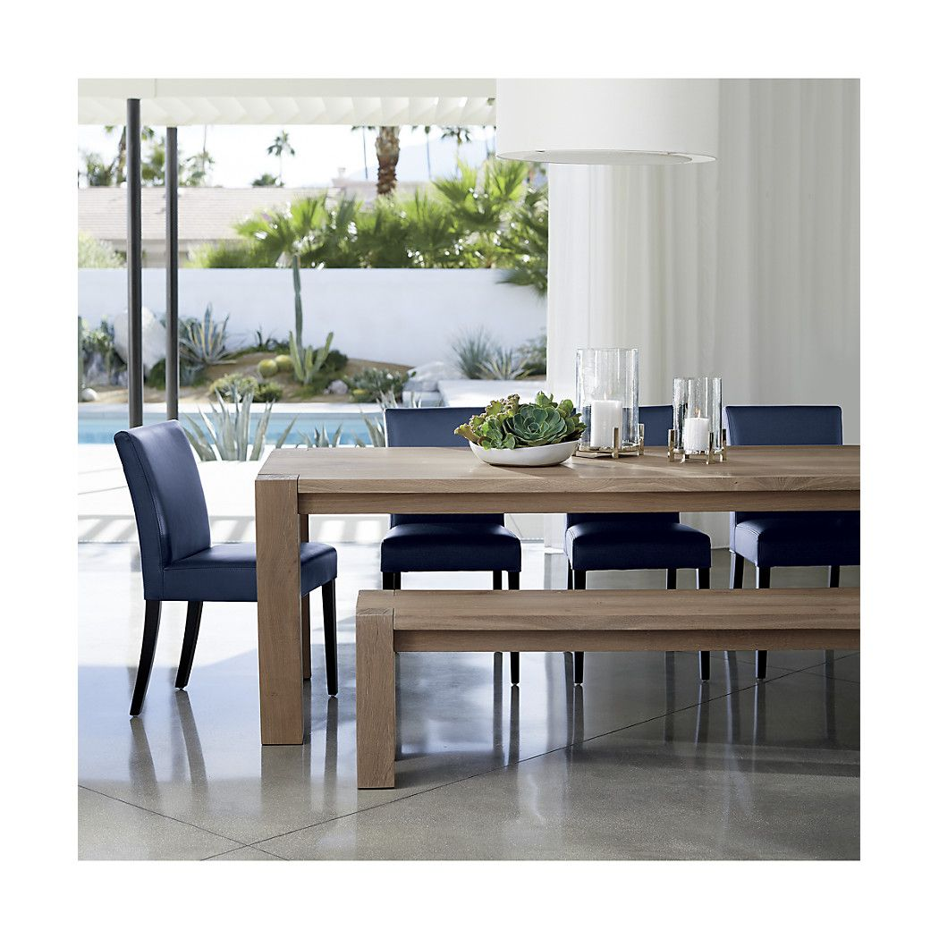 Big Sur Natural 65 Dining Table Crate And Barrel Metal Dining