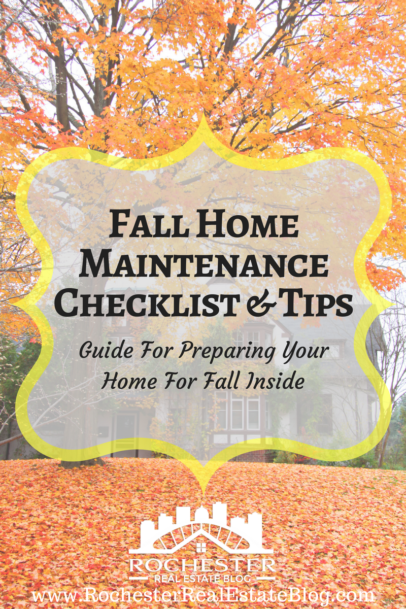 Fall Home Maintenance Checklist Tips Home Maintenance Checklist Autumn Home Home Improvement Projects