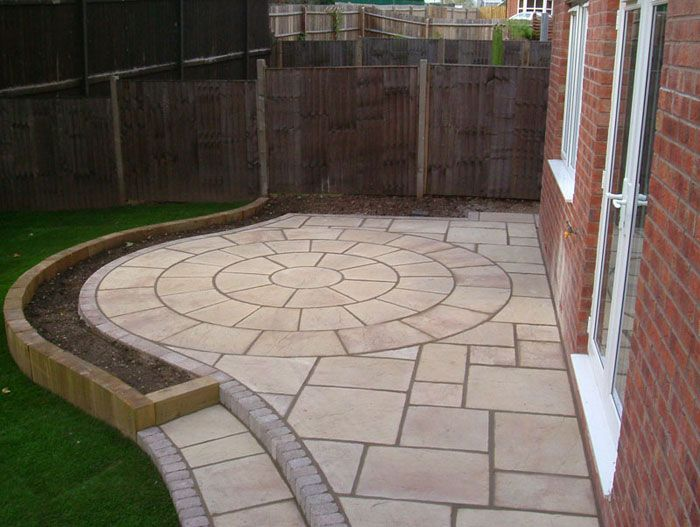 Add Visual Interest With A Classic Circle Feature To Add To Make Your  Perfect Garden Patio Area.