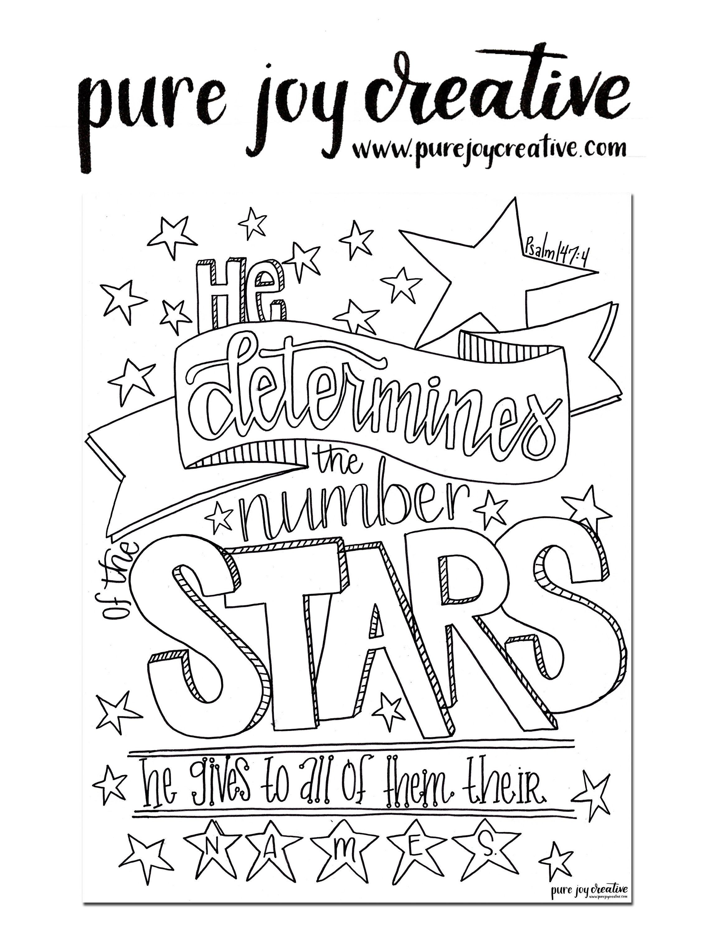 Psalm 147 Coloring Page Bible Verse Art Scripture Art Coloring