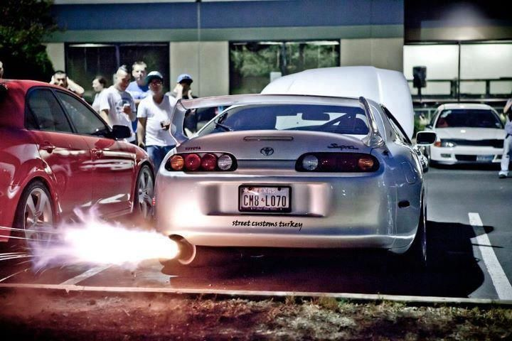 Charmant Toyota Supra Flame #als