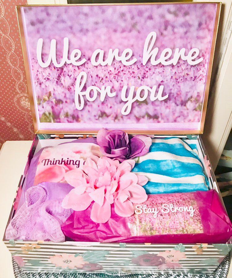 Encouragement gift we are here for you grief box grief