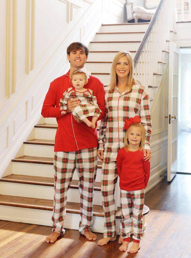 7876e65b11 SleepytimePjs Family Matching Plaid Fleece Onesie Pajamas