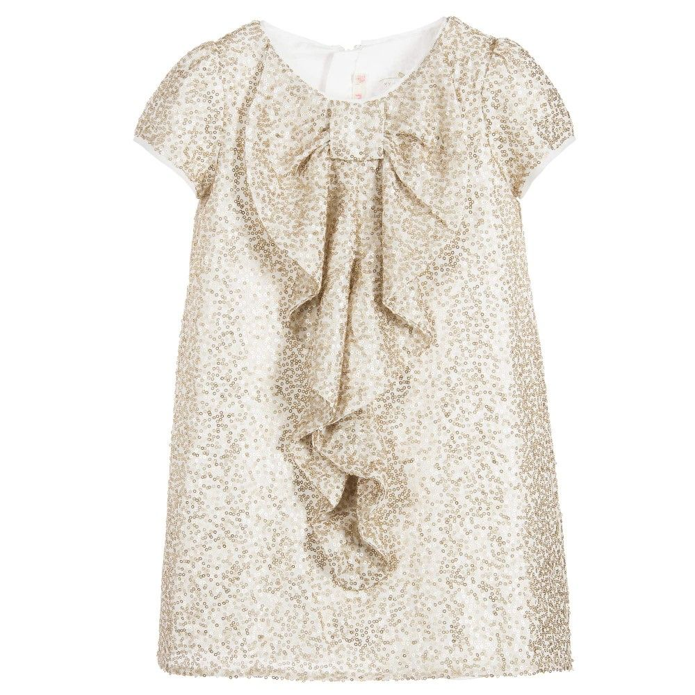 Girls gold sequin dress babies