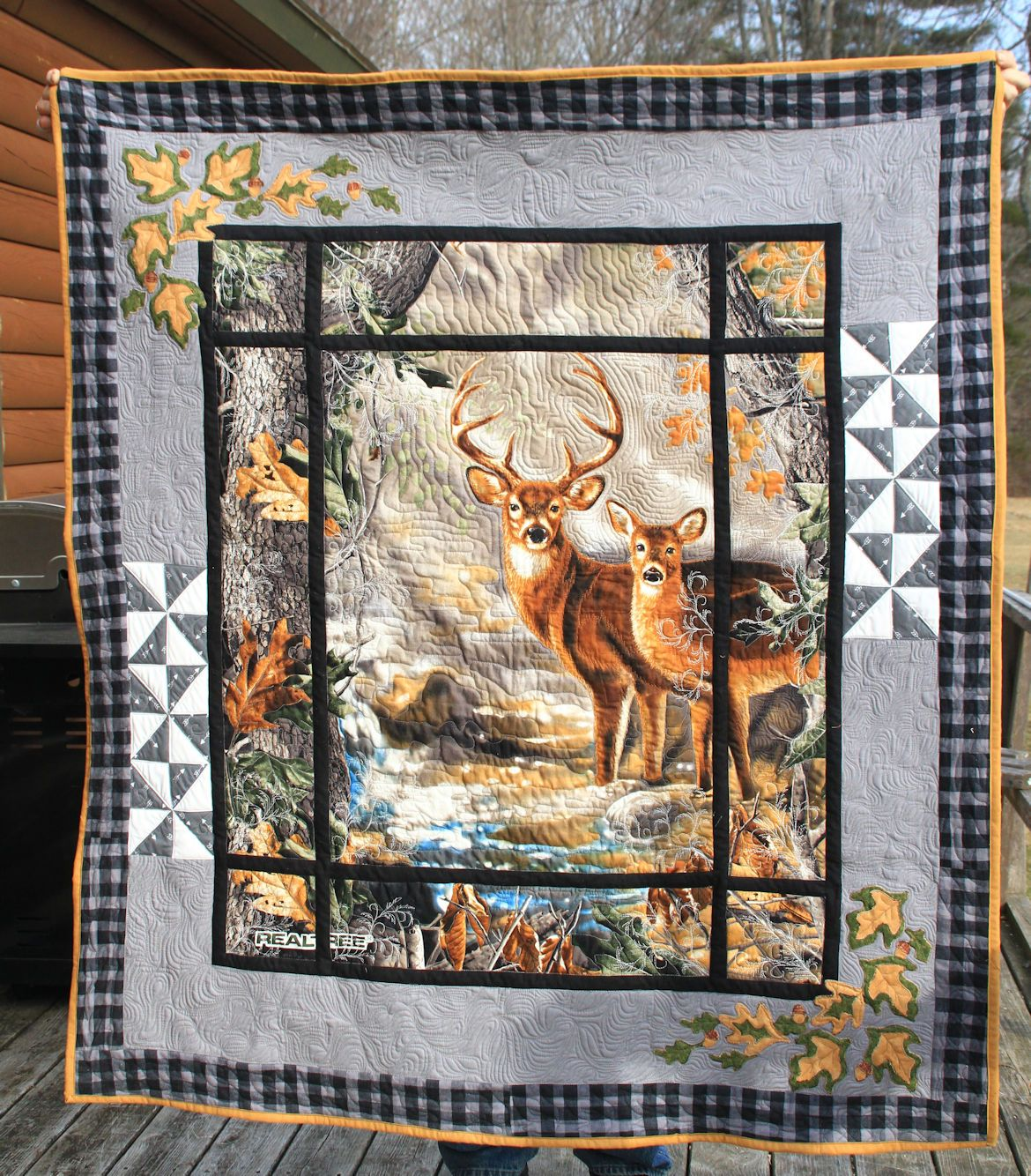 Deer Out The Window Hints For The Home Quilts Fabric