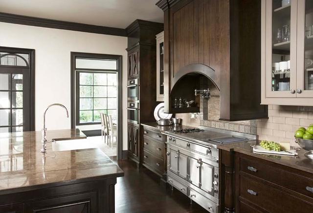 The kitchen has la cornue chateau range sub zero and miele appliances custo - La cornue chateau 90 ...