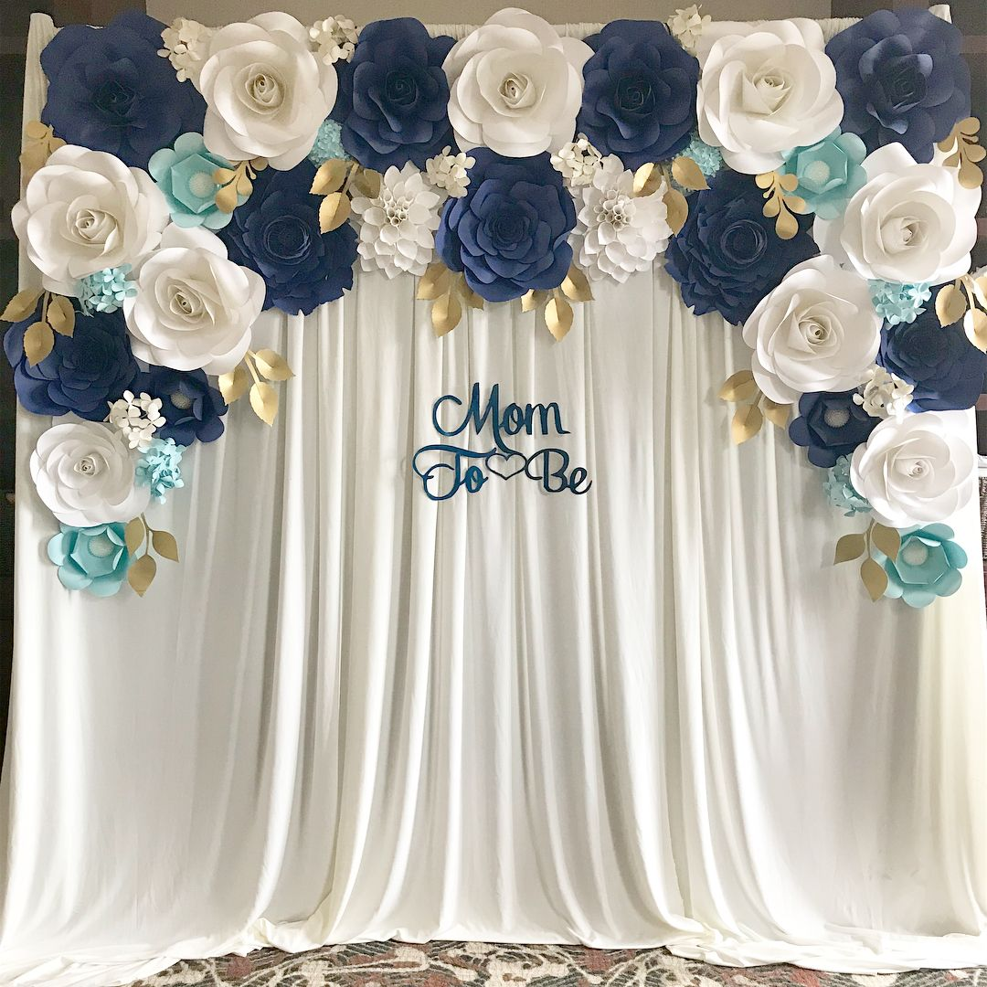 How stunning is this backdrop for a boy theme baby shower   ot