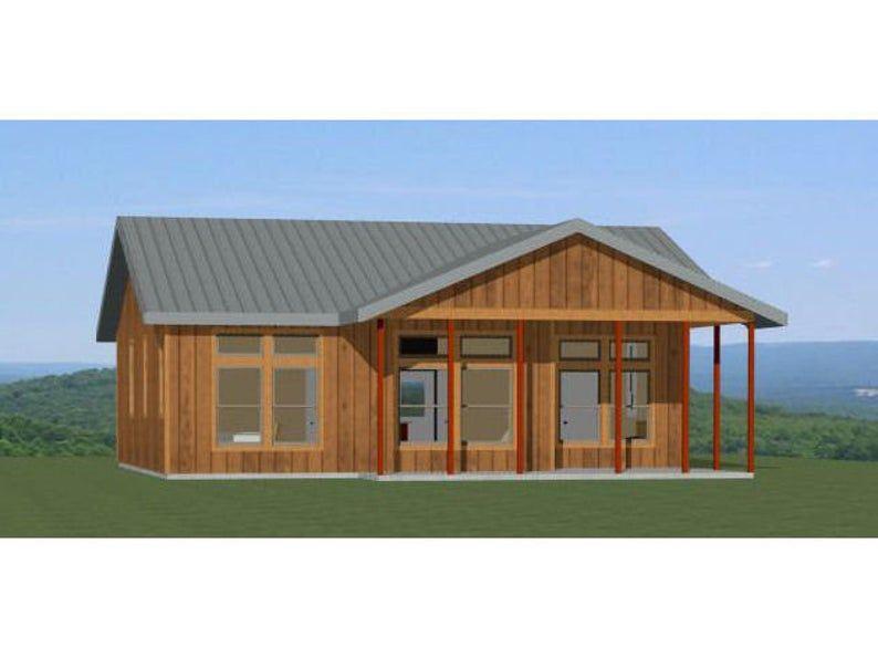 36x32 House 2 Bedroom 2 Bath 1082 Sq Ft Pdf Floor Etsy In 2020 House Plans Australia House Metal Building Homes