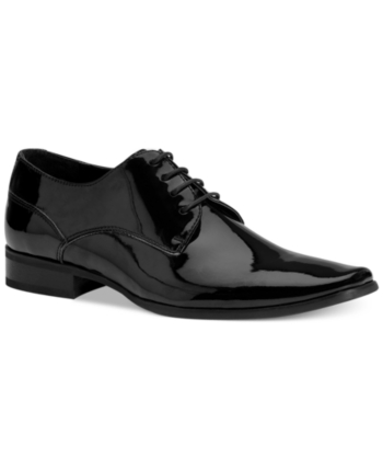0b86b291642d9 Calvin Klein Men's Brodie Plain Toe Tuxedo Oxfords - Black 11.5W ...