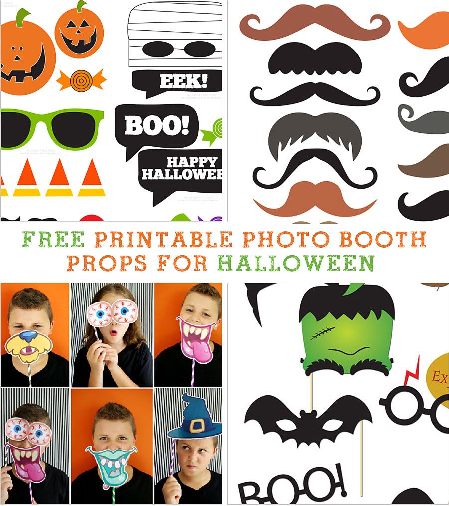 It is a picture of Challenger Halloween Photo Booth Props Printable Free