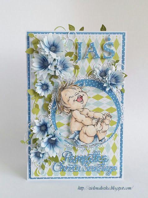 Papierowe chwile zielonejliszki, Card with flowers