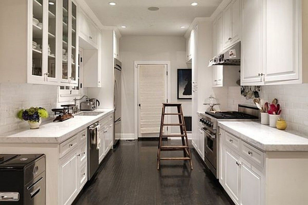 Small Galley Kitchen Ideas Design Inspiration: Appealing Contemporary Kitchen Interior Extraordinary