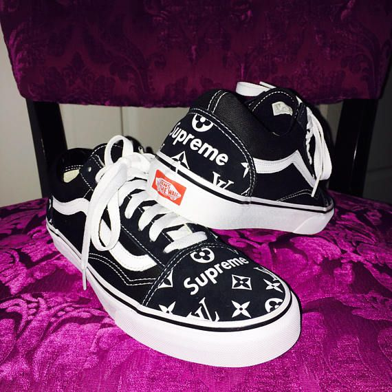 bfab76c6eeabd Custom Vans Made Specifically To Order The Old Skool, Vans classic skate  shoe and the first to bare the iconic side stripe, has a low-top lace-up  silhouette ...