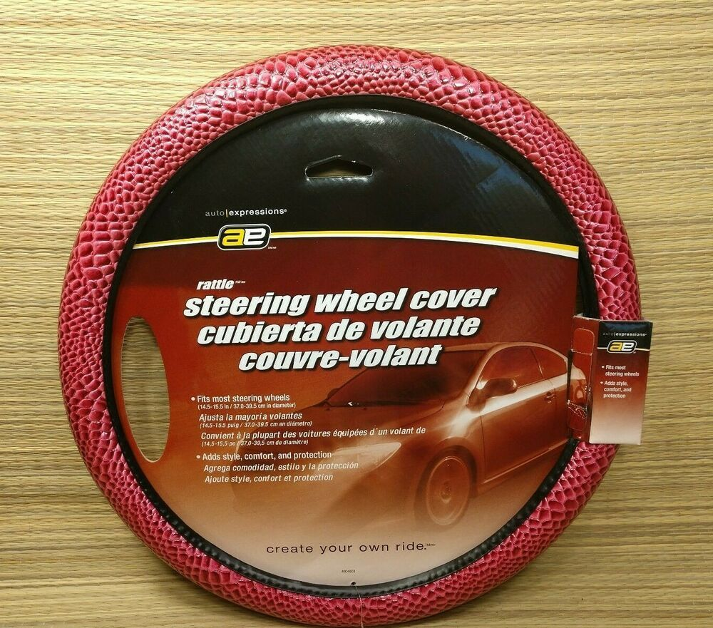 Auto Expressions Rattle Pink Steering Wheel Cover Fits 14 5 15 5 New Autoexpressions Steering Wheel Cover Pink Steering Wheel Cover Wheel Cover