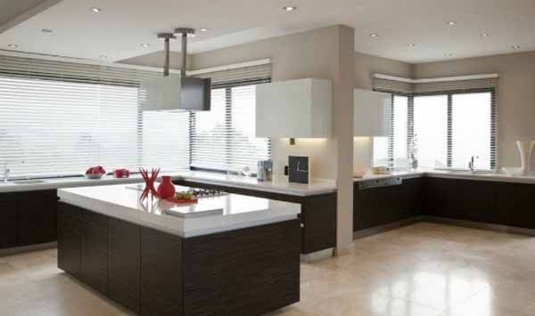 wood kitchen cabinets and island design