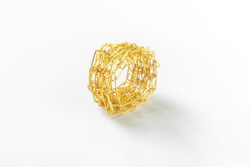"""HERMIEN CASSIERS - 1991 ring, 2014 gold - at """"HAUTE COUTURE"""""""