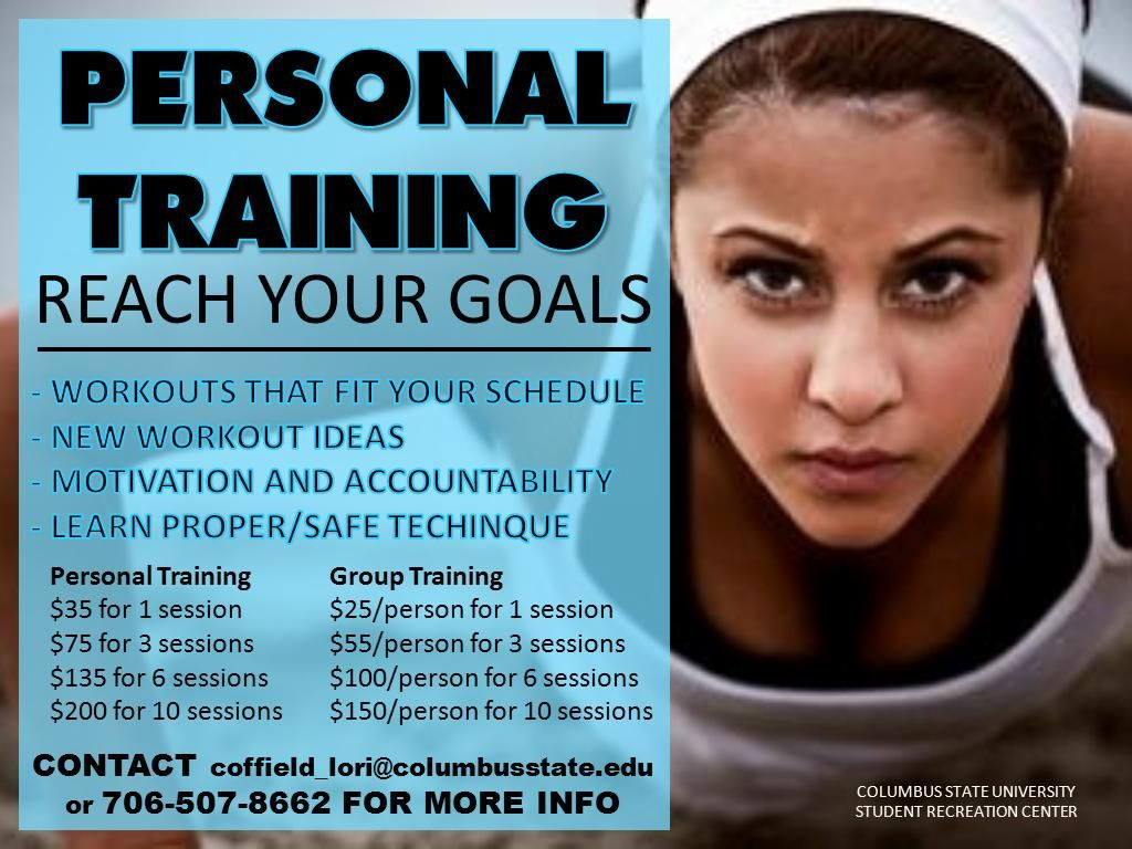 personal training fitness flyer pinterest personal trainer