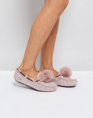 7589050cb6696 UGG Dakota Pom Pom Dusk Slippers | Beautiful things | Uggs, Ugg ...