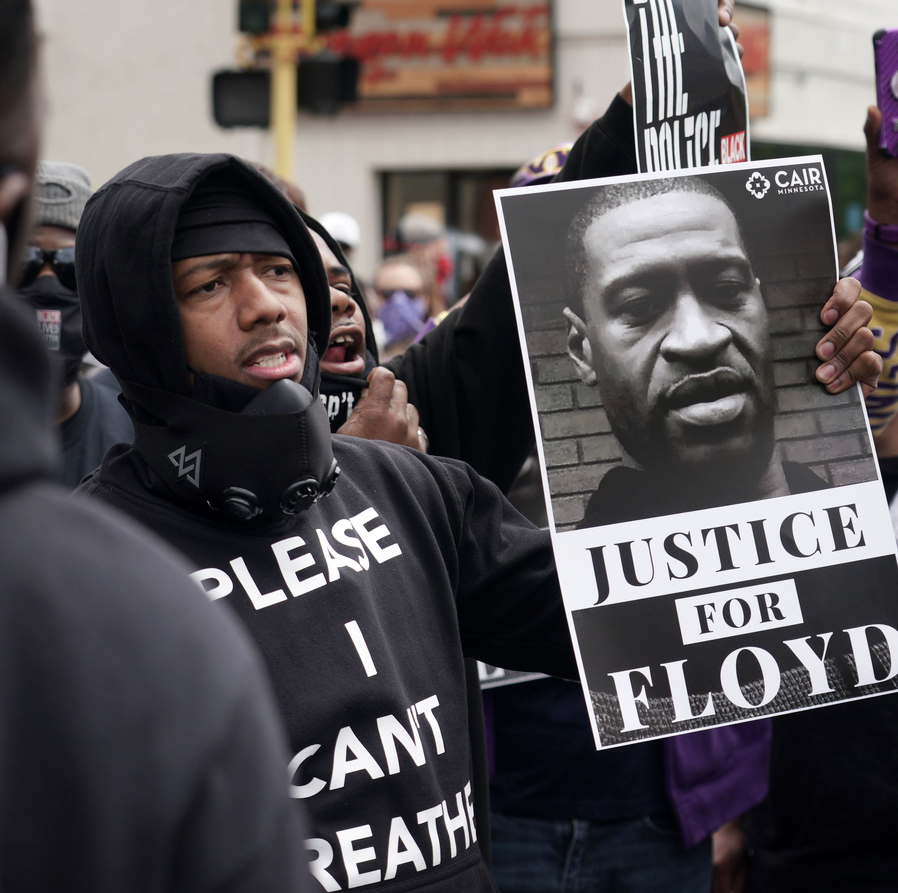 These Celebrities Joining The George Floyd Protests Offer Much More Than Empty Social Media Posts In 2021 Black Lives Matter Black Lives Nick Cannon