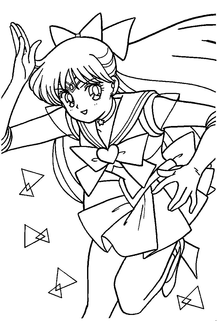 Sailor Venus Coloring Page Sailormoon Sailor Moon Coloring