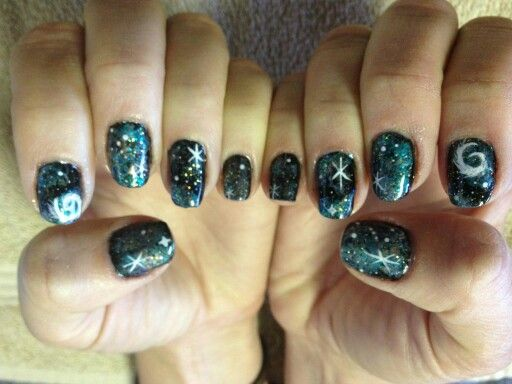 The Universe At My Fingertips With A Shellac Galaxy Manicure