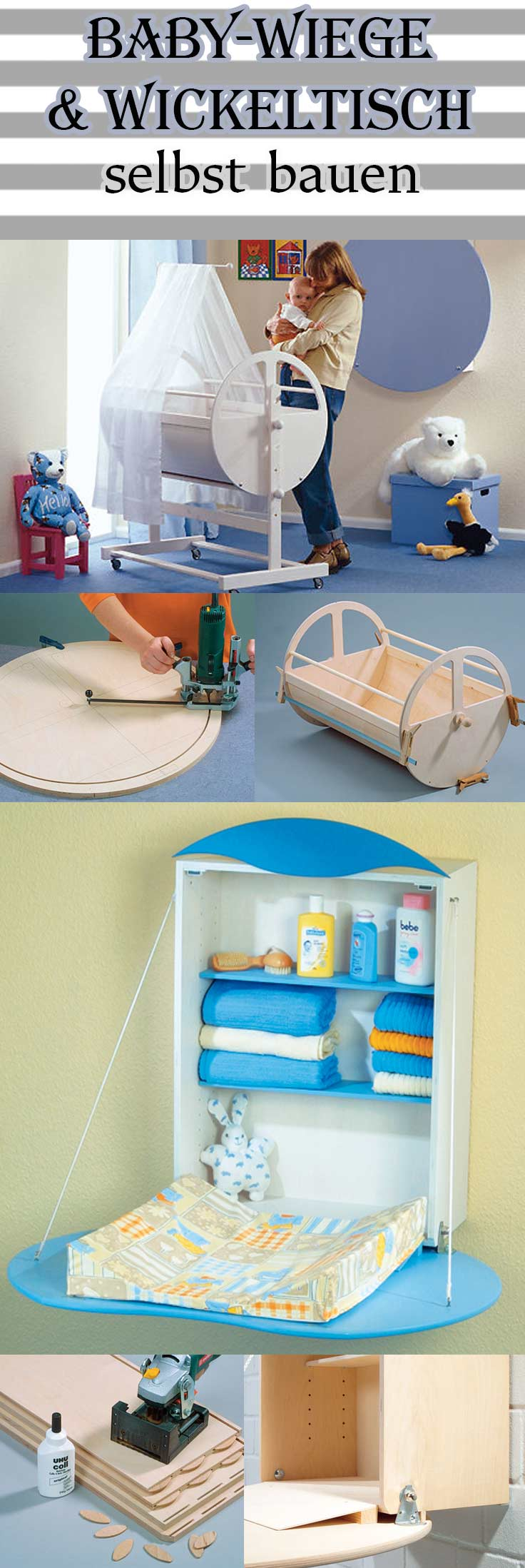 bauanleitung baby wiege selbst bauen kinder hobby diy pinterest wiege wickeltisch und. Black Bedroom Furniture Sets. Home Design Ideas