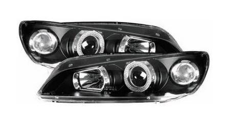 Peugeot 306 1997 2002 Black Angel Eye Halo Projector Headlights