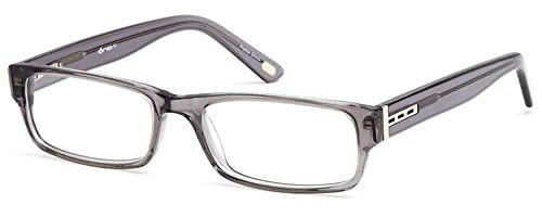 74dded6ee86 Unisex Rectangular Glasses Frames Gunmetal Prescription Eyeglasses Rxable  56-18-145